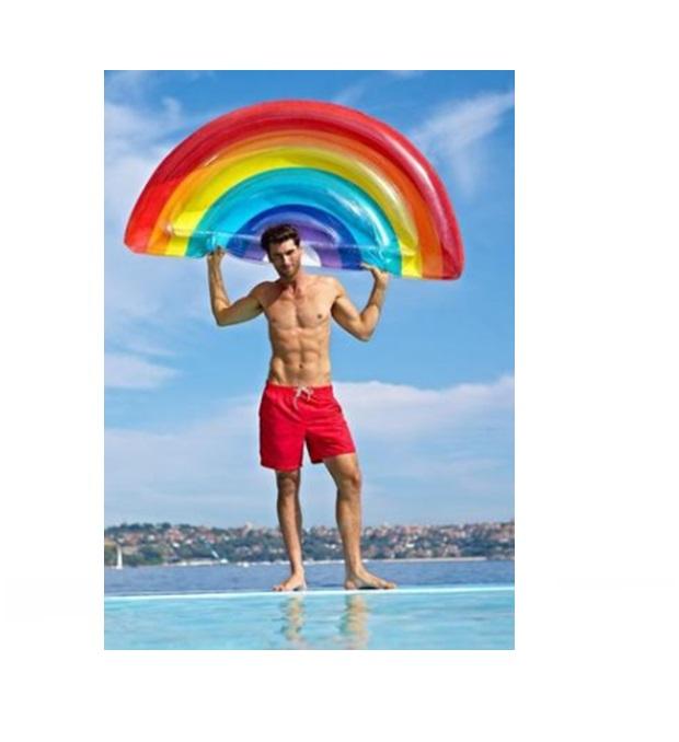 Inflable arcoiris 190x95 cm x1u
